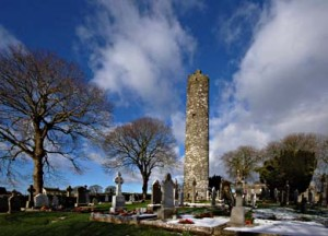 Monasterboice Round Tower and High Crosses